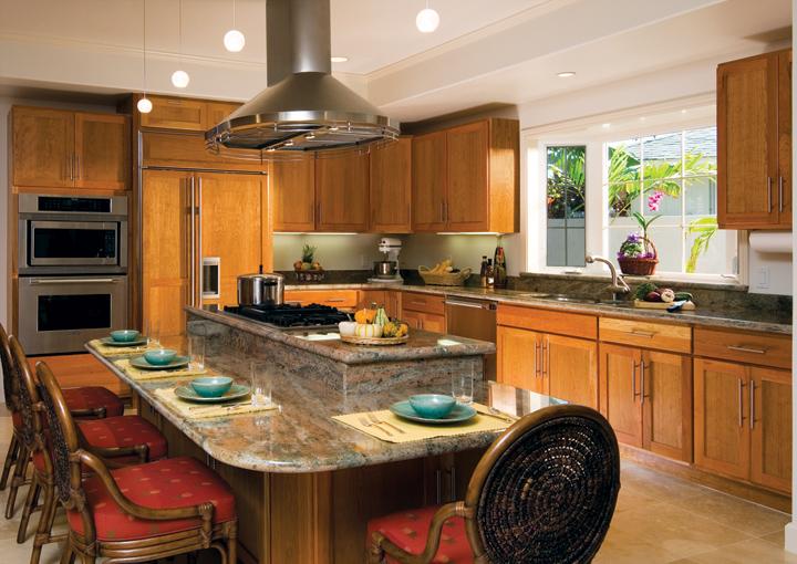 Shaker kitchen in Cherry wood