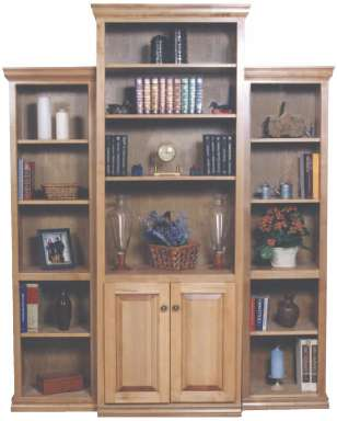 Traditional Flush Bookcase Set