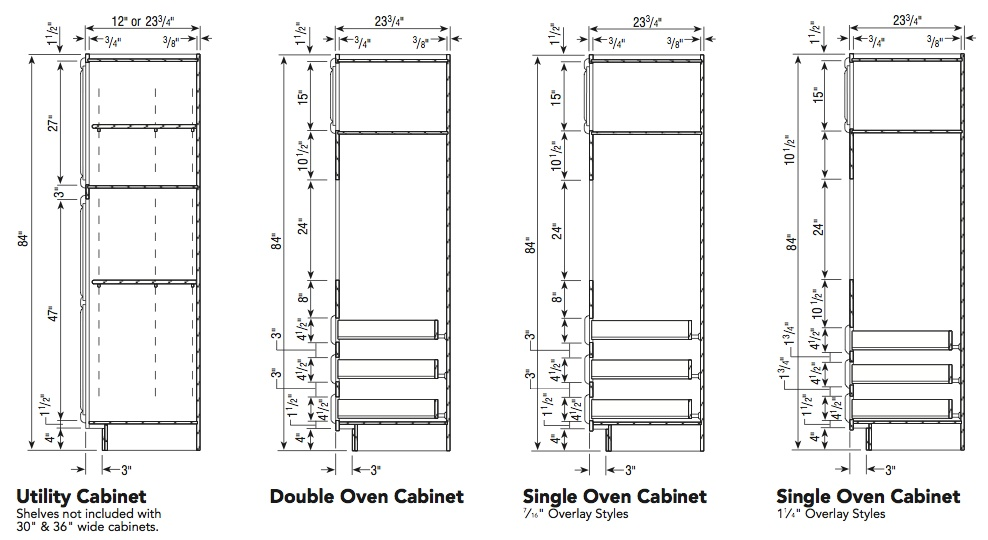 Aristokraft Base Cabinet Specifications