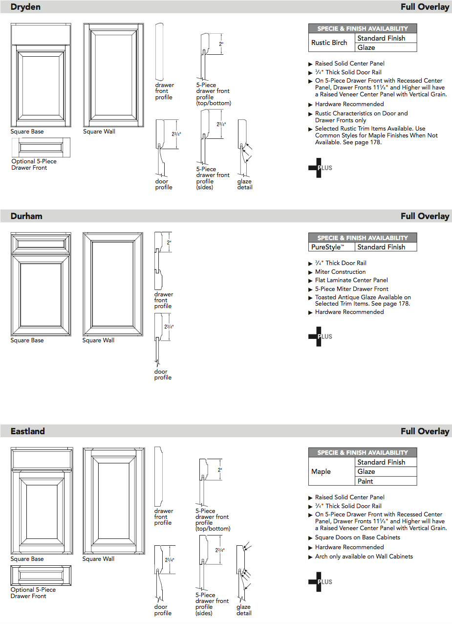 Aristokraft door specifications3