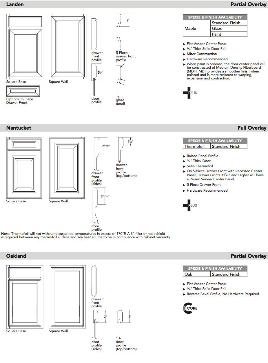 Aristokraft door specifications5