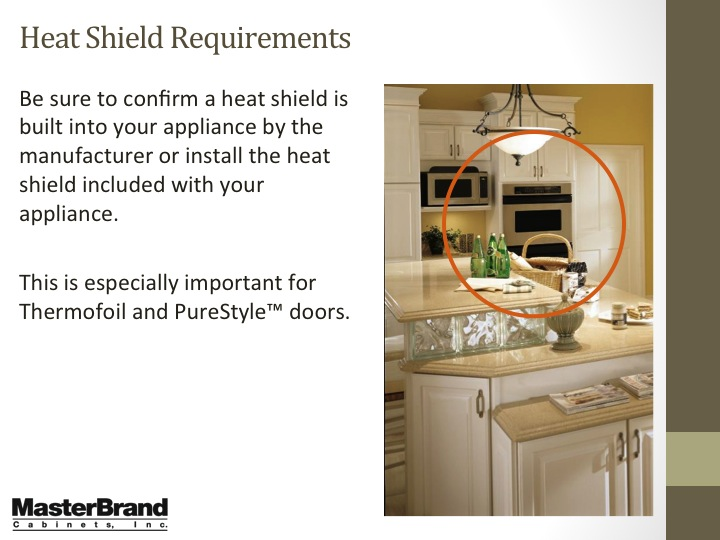 Kitchen Cabinet Heat Shield Bar My Oven Melted The