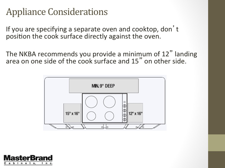 Appliance considerations