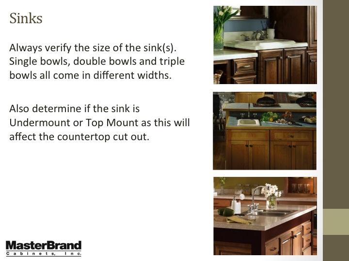Sink sizes