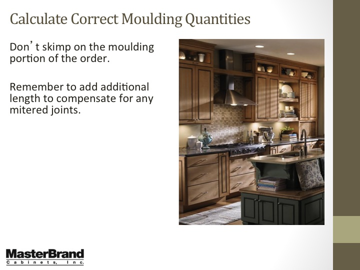 Calculate correct moulding quantities
