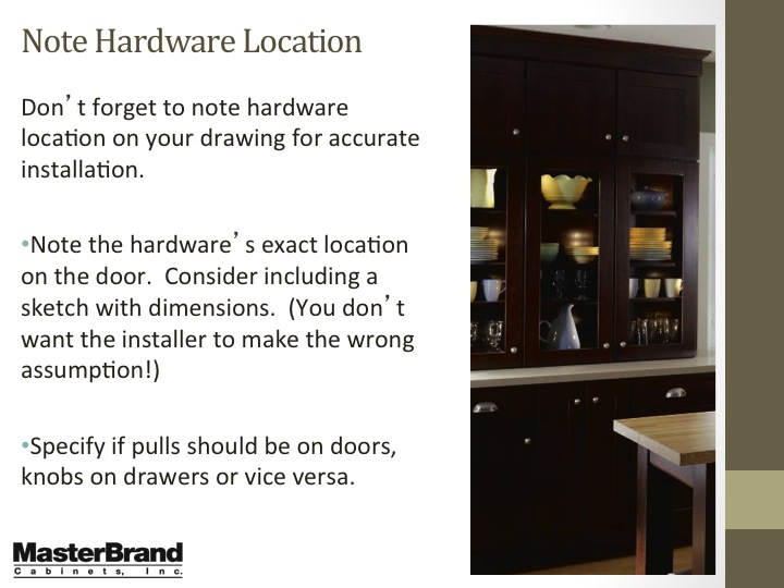 Note hardware location
