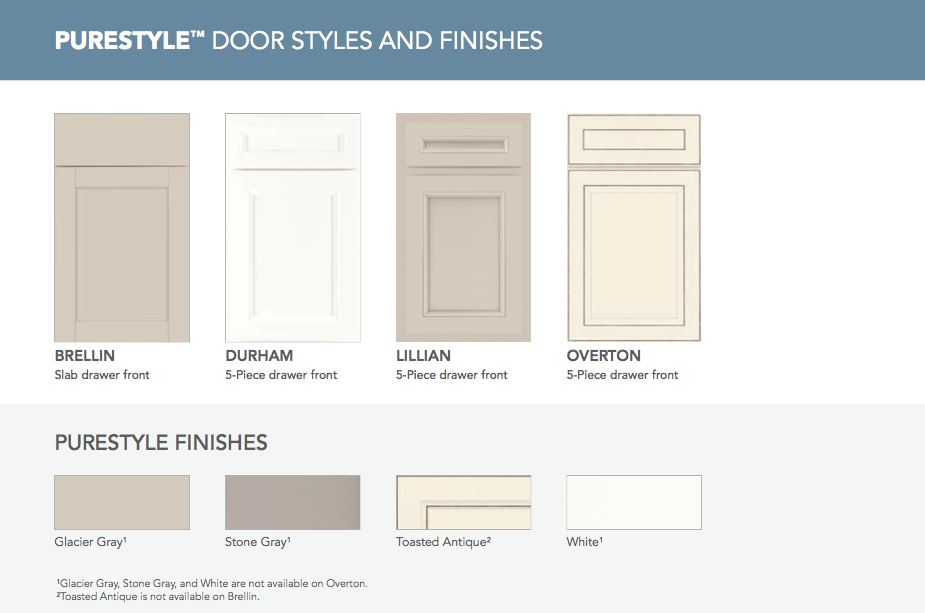 Wentworth door style purestyle in toasted maple and maple door in - Stock Aristokraft Kitchen Cabinet Styles
