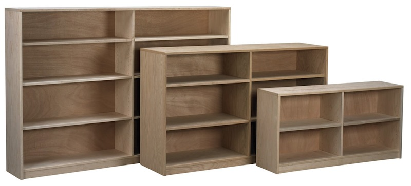 Arthur Brown Nola frameless bookcases with center divider