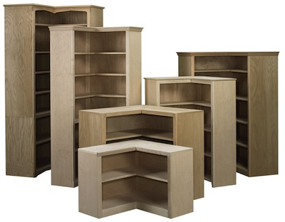 Face Frame Corner Bookcases - Arthur Brown Custom Corner Bookcases
