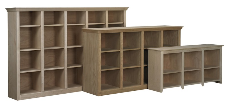 Face Frame Bookcases with Partitions