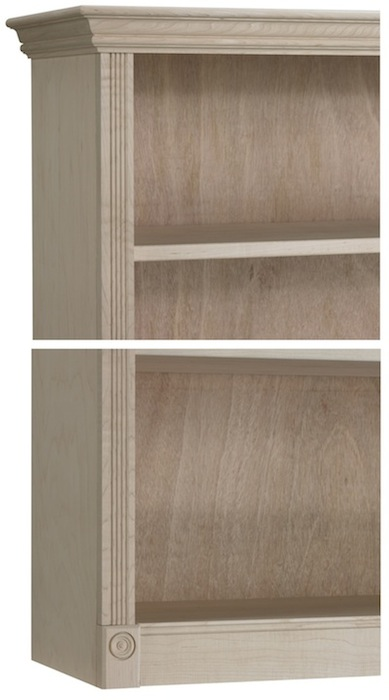Federal Crown Bookcases