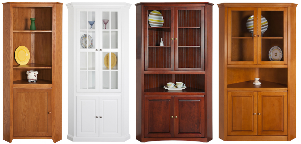 Arthur Brown 5-Sided Corner Cupboards: