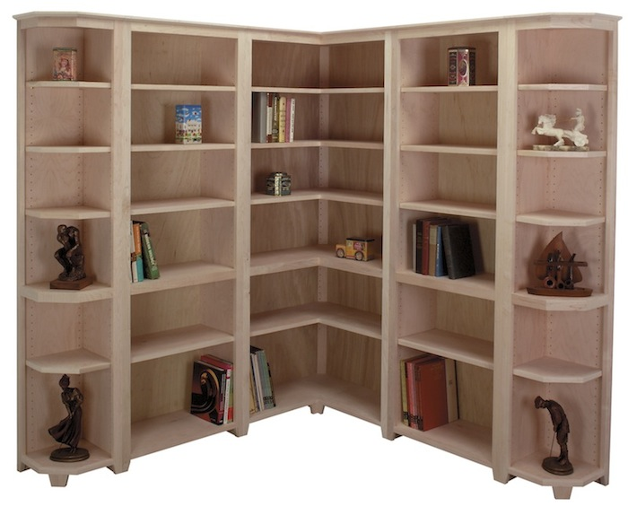 Above Arthur Brown Unfinished Shaker Corner Bookcase Standard Bookcases And End Click For More Details On This Giuseppa Wall