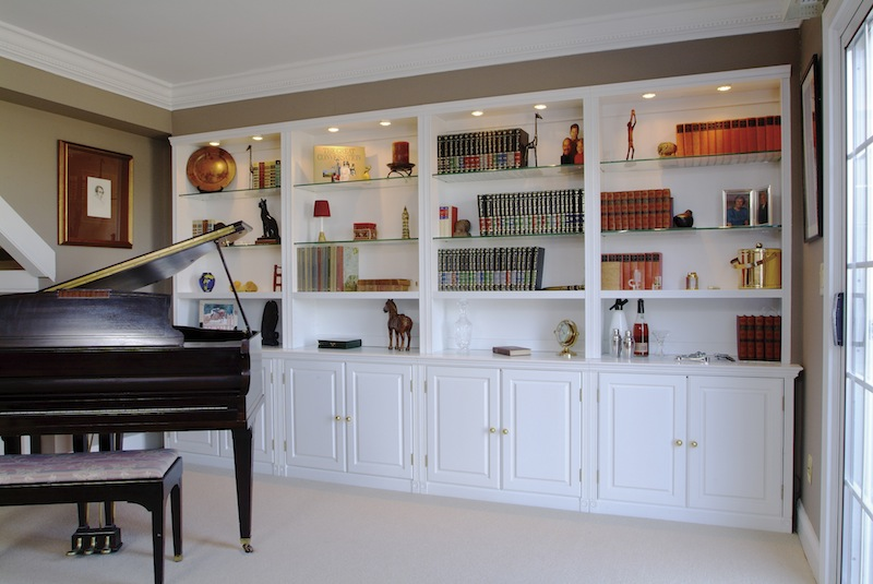 custom cabinets, bookcases, built-ins, bookshelves, entertainment