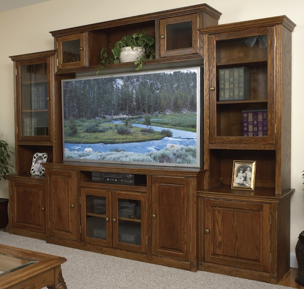 Arthur Brown entertainment center with hutches