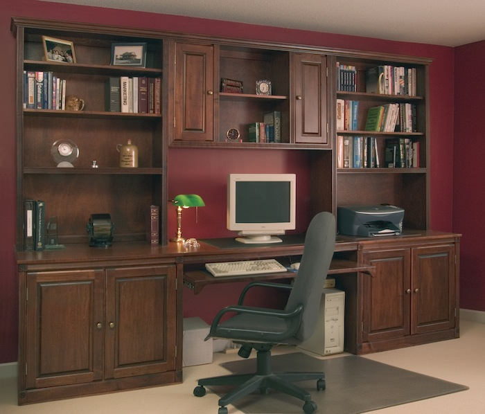 Office Desk With Cabinets Photo