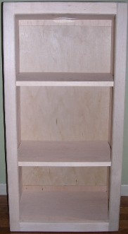 Contemporary wall-hanging bookcase