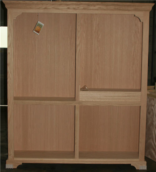 Harvard bookcase hutch with center divider