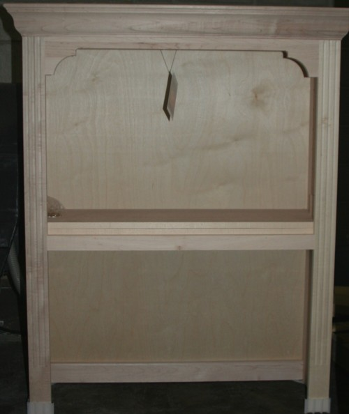 Fluted Harvard Bookcase Hutch