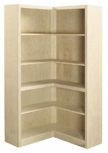 Corner L-Shaped bookcases extend 30