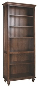 Cottage bookcase with Merlot finish