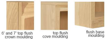Traditional Flush Moulding Bookcase Set
