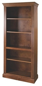 Fluted bookcase in Caramel finish