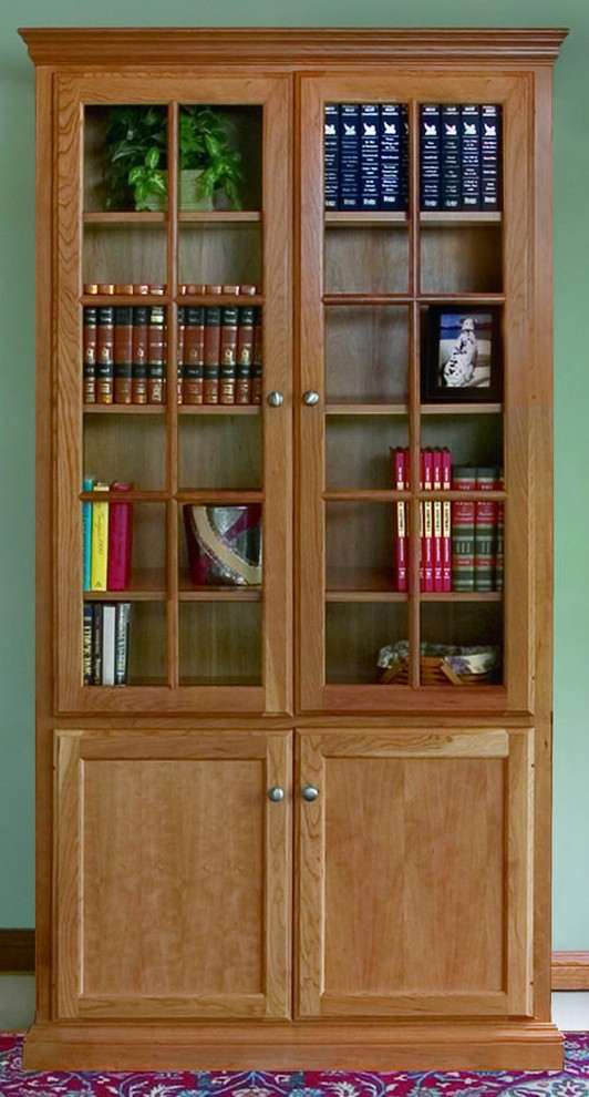 Custom Woodcraft Bookcase Options