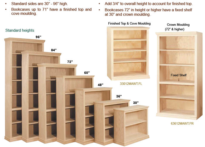 Choose bookcase height