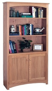 Shaker bookcase in Oak