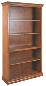 Traditional bookcase in Caramel finish