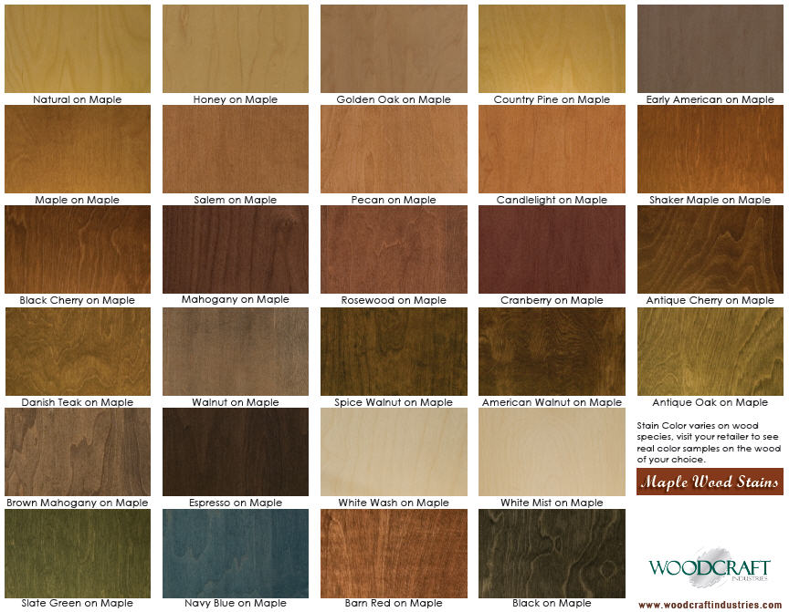 Image Gallery Maple Stain