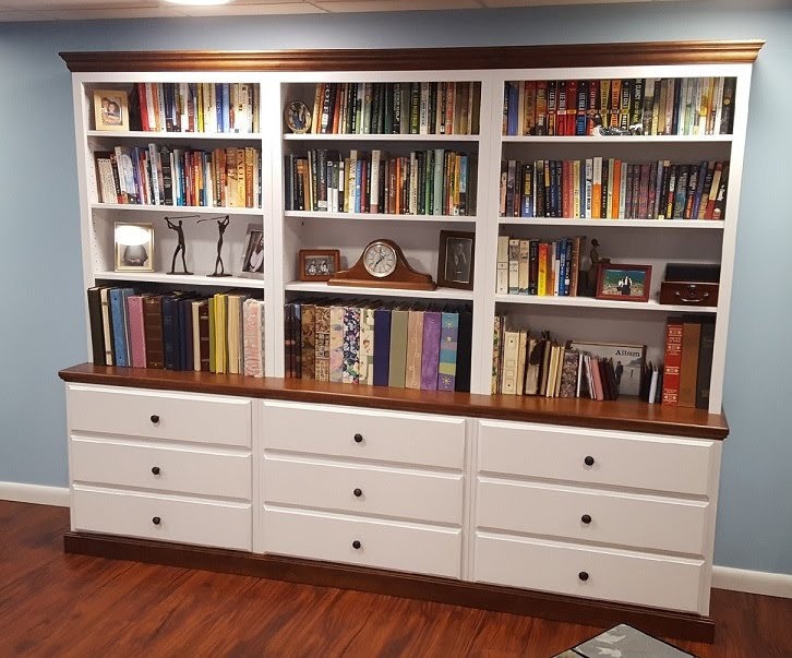 Above Woodcraft Traditional Bookcases Base Units With Drawers And Hutches
