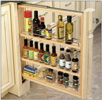 "Kitchen Base Filler Organizer, 3""W x 30""H x 23""D with Full-Extension Slides and Adjustable Shelves"