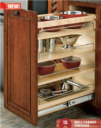 "Kitchen Base Pull-Out Organizer, 8""W x 25-1/2""H x 22-1/2""D, with Full-Extension Slides"