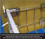 Door Mount Extender Kit for aluminum frame pullouts (Chrome)
