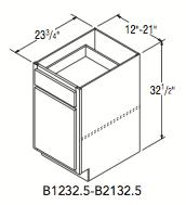 """BASE 32.5 (12""""W x 32.5""""H x 23.75""""D)"""
