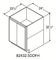 "BASE FULL HEIGHT 32.5 (24""W x 32.5""H x 23.75""D)"