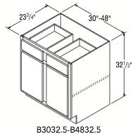 """BASE 32.5 (30""""W x 32.5""""H x 23.75""""D)"""