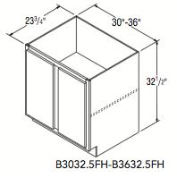 "BASE FULL HEIGHT 32.5 (30""W x 32.5""H x 23.75""D)"