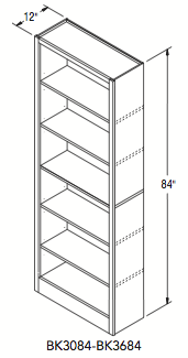 "TALL BOOK CASE (30""W x 84""H x 12""D)"