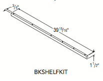 "BOOKCASE SHELF KIT (1.5""W x 39.9375""H x 0.75""D)"