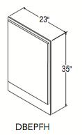 "DECORATIVE BASE END PANEL FULL (23""W x 34.9375""H x 0.1875""D)"