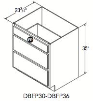 """DRAWER BASE W/FALSE PANEL (30""""W x 32.5""""H x 23.75""""D)"""