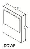 """DECORATIVE DISHWASHER PANEL (24""""W x 30""""H x 0.1875""""D)"""