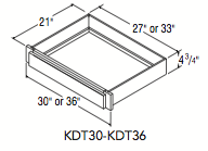 """KNEESPACE DRAWER TRIMMABLE (30""""W x 4.75""""H x 21""""D)"""