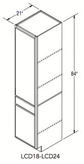 """LINEN CLOSET W/DRAWER (18""""W x 84""""H x 21""""D)"""