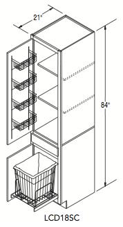 "LINEN CLOSET SUPER CABINET (18""W x 84""H x 21""D)"