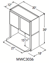 """MICROWAVE CABINET (30""""W x 36""""H x 12""""D)"""