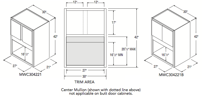 """MICROWAVE CABINET (30""""W x 42""""H x 21""""D)"""